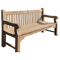 The Oak And Rope Company Personalised 3-Seater Parkland Bench, Oak