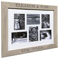 The Oak And Rope Company Personalised Multi-aperture Frame, Oak