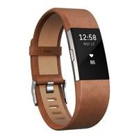 FITBIT Charge 2 Classic Accessory Band - Brown Leather, Small, Brown
