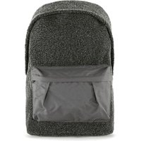 Mens Grey Charcoal Faux Shearling Backpack, Grey