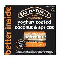 Eat Natural Bars with Benefits Yoghurt Coated Coconut & Apricot 3 x 45g