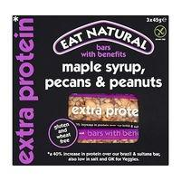 Eat Natural Bars with Benefits Maple Syrup, Pecans & Peanuts 3 x 45g