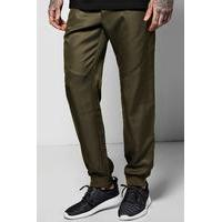 Cuff Woven Joggers With Zip Pockets - sage