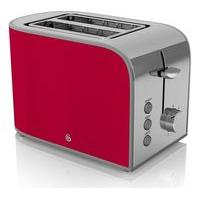 SWAN Retro ST17020RN 2-Slice Toaster - Red, Red