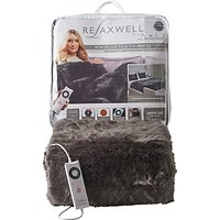 Dreamland Relaxwell Deluxe Faux Fur Heated Throw, Grey