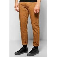 Smart Joggers With Cuff Detail - camel