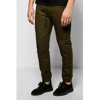 Fit Quilted Biker Joggers - khaki