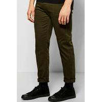Smart Joggers With Cuff Detail - khaki