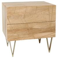 Roar + Rabbit for west elm Geo Inlay 2 Drawer Bedside Table