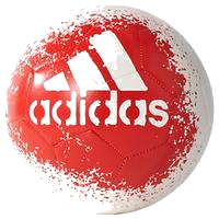 Adidas X Glider II Football, Size 5, White/Red