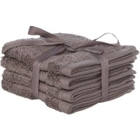 Luxury Hotel Collection Zero twist face cloth set of 4 in pewter