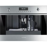 SMEG CMS6451X Built-in Bean-to-Cup Coffee Machine - Stainless Steel & Black Glass, Stainless Steel