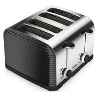 TOWER T20008 Linear 4-Slice Toaster - Black, Black