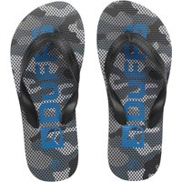 DuFFS Junior Boys Camouflage Flip Flops Black Camo