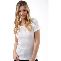 Fluid Womens Ribbed T-Shirt White