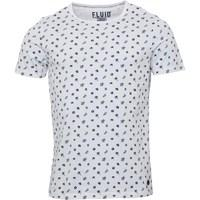 Fluid Mens All Over Printed T-Shirt White/Navy
