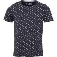 Fluid Mens All Over Printed T-Shirt Charcoal Marl