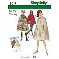 Simplicity Misses' Women's Vintage 1960s Capes Sewing Pattern, 8017