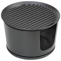 Mors Bucket Charcoal Firepit BBQ, Black