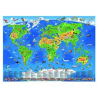 Bex Laminated Educational Wall Map