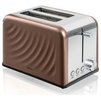 SWAN ST19010TWN 2-Slice Toaster - Copper Twist, Brown