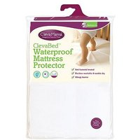 Clevamama Brushed Cotton Fitted Mattress Protector 90 x 40 cm - Crib Size