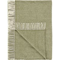 Croft Collection Fishbone Wool Rug, Olive
