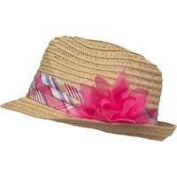 Board Angels Girls Flower Trim Trilby Natural