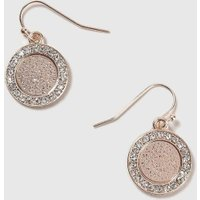 Womens Filigree Coin Drop Earrings- Clear, Clear