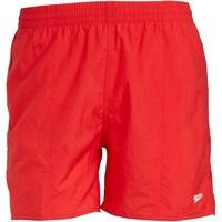 Speedo Mens Solid Leisure 16 Inch Water Shorts Red