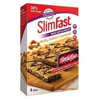 SlimFast Meal Replacement Nutty  Caramel Meal Bar 4 x 60g