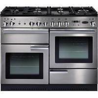 RANGEMASTER Professional 110 Dual Fuel Range Cooker - Stainless Steel & Chrome, Stainless Steel