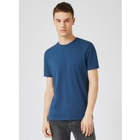 Mens Dark Blue Slim Fit T-Shirt, Blue