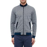 Ted Baker Qwean Checked Bomber Jacket, Grey