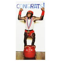 Woodmansterne Chimp Congratulations Greeting Card