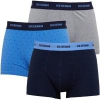 Ben Sherman Mens Noah Three Pack Boxers Navy/Sky/Grey