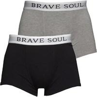 Brave Soul Mens Ali Two Pack Boxers Grey/White