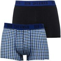 Ben Sherman Mens James Two Pack Trunks Multi