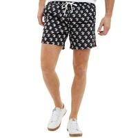 Brave Soul Mens Presley Swim Shorts Black/White
