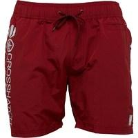Crosshatch Mens Jennis Swim Shorts Pomegranate