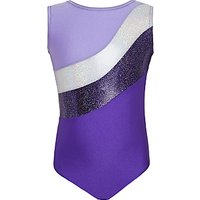 Tappers and Pointers Sparkling Stripes Sleeveless Gymnastics Leotard