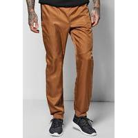 Cuff Woven Joggers With Zip Pockets - camel