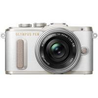 OLYMPUS PEN E-PL8 Mirrorless Camera with 14-42 mm f/3.5-5.6 Zoom Lens - White, White