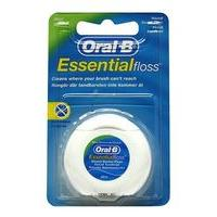 Oral-B Essential Waxed Mint Floss 50m