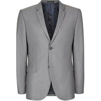 Mens Grey Skinny Fit Suit Jacket, Grey