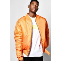 MA1 Bomber With Ruched Sleeves - orange
