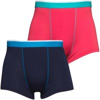 Social Lab Mens Two Pack Boxers Azalea/Peacoat