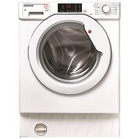Hoover HBWD7514DA Integrated Washer Dryer, 7kg Wash/5kg Dry Load, A Energy Rating, 1400rpm Spin, Whi