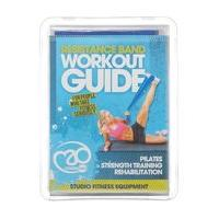 Yoga Mad Medium Resistance Band with User Guide, Blue