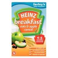 Heinz Oats and Apple Cereal from 4 months